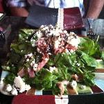 Pancetta, Gorgonzola and Spinach Salad