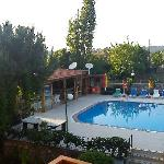 Hotel/bar/pool in early evening