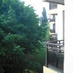 Blick vom Balkon zur Hofseite