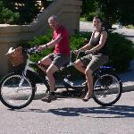 The perfect setting for a ride on a bicycle-built-for-two