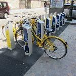 Bike sharing vicino all'albergo
