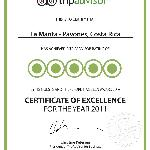 Our Certificate of Excelence!!