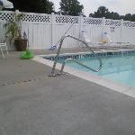 Broken ladder at pool