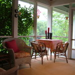 Enjoy a Private, Secluded Breakfast on the Porch - Berllan Glyn Suite - The Welsh Hills Inn