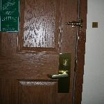 We were instructed to trust the little prong at the top since the locks on our door didn't work.
