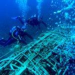 "Wreck ""Arado"" seaplane"