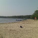 The beach and boat rentals