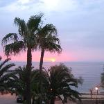A lovely seafront to sit and enjoy the sunset
