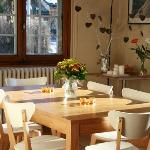 A huge kitchen table to enjoy your meals