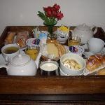 Breakfast tray.