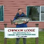 Owner with 44 pound Tyee Salmon