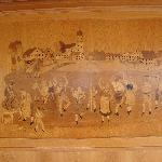Wood Inlaid wall on Utting Ferry