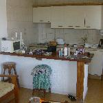 Kitchen area - with microwave