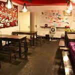 Lobby of Laoximen Hostel