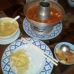 Tom Yum Gai soup and Gaeng Garee Chicken Curry