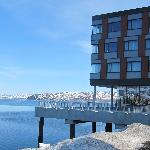 Restaurant and the fjord view
