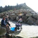 Wheelchair acessible beach at low tide!