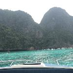 on the boat going to the phi phi islands