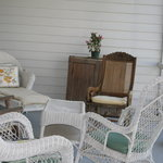 sitting area on side porch Little Page Inn