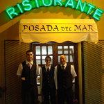 The waiters and waitress of Posada del Mar