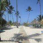 Pathway from the pool to the beach