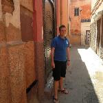 Outside the Riad Bel Haj