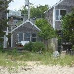 A view of the cottage from the shore