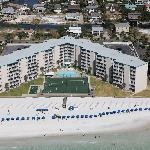 Holiday Surf in Destin is right on the beach. Every room has a view of the beach.