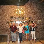 My family on the last night at the Sheraton Ambassador