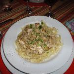 Restaurant-Fetuccini con alcachofas