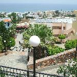 View over the hotel to Stalis beach