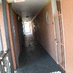 Hallway where one enters the condos