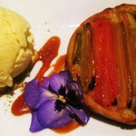 Organic Rhubarb Tart with Rosemary Ice Cream