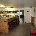 Lunch counter, kitchen & grill