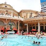 One of three heated pools