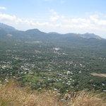 View of the Valle de Anton from the Top of La India Dormida