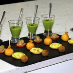 Canapes with champagne