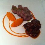 veal cheeks and carrots; very good indeed