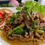 "Our signature dish ""Pho Bo Xao"" (Stir Fried Beef Pho)"