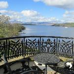 amazing balcony....great view of Loch Lomand