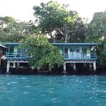 Lagoon ensuite chalets from the water