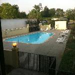 View from room of the pool