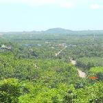 View towards Laem Sing and coastline, beaches