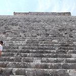 Uxmal - Climbing the main pyramid