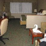Entering the suite