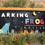Barking Frog Grill, Sedona, AZ sign