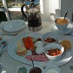 The breakfast included with the stay