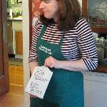 Julie describing one of here great breakfasts!