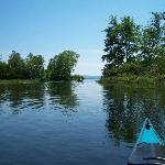 Paddling down the Cockermouth River into Newfound Lake, a perfectly serene way to spend a day.