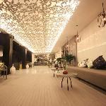 Lobby, leaf like ceiling